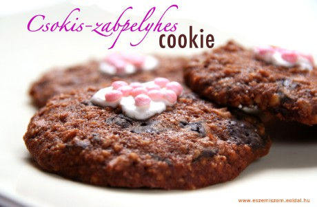 csokis-zabpelyhes cookie